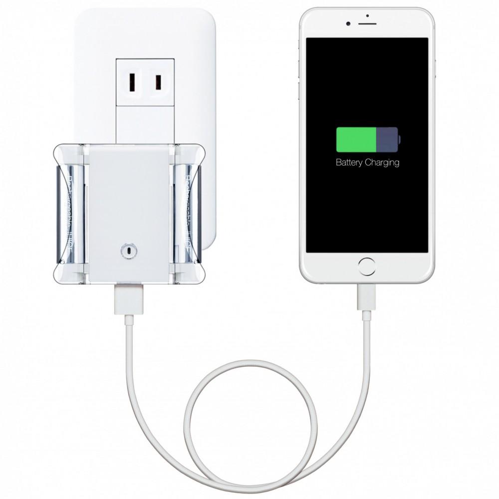 コンセントからiPhoneと電池を連続充電_iPhone